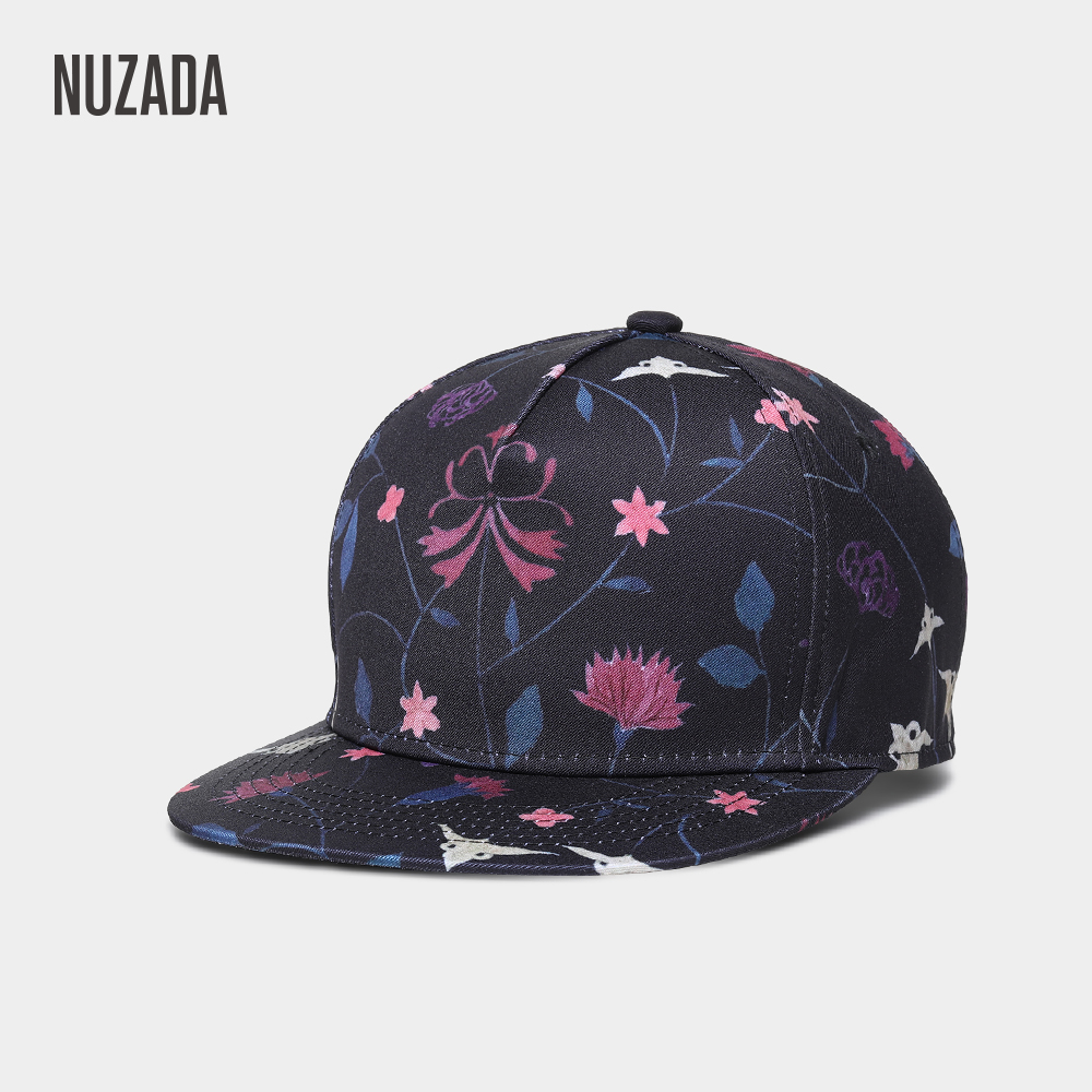 NUZADA Men Women Couple 3D Printing Hip Hop Cap Fashion Design Flowers Polyester Cotton Neutral Caps Spring Summer
