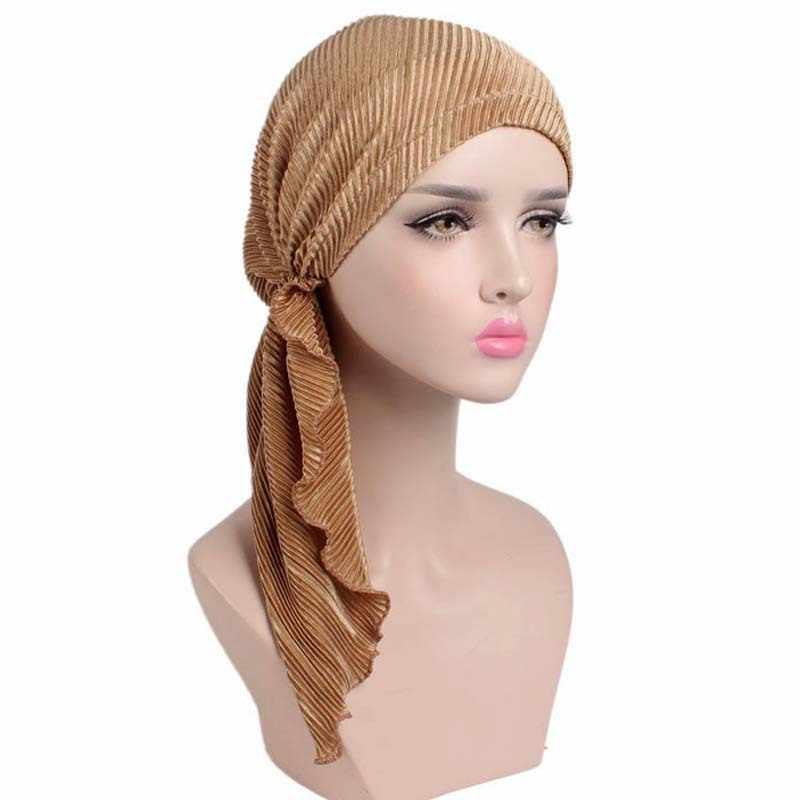Bella Cachecol Chapéu Cabeça Turbante Quimio Headwear Bandana Lenços Pré-Amarrado Cor Lisa AA10004 Tichel para o Câncer
