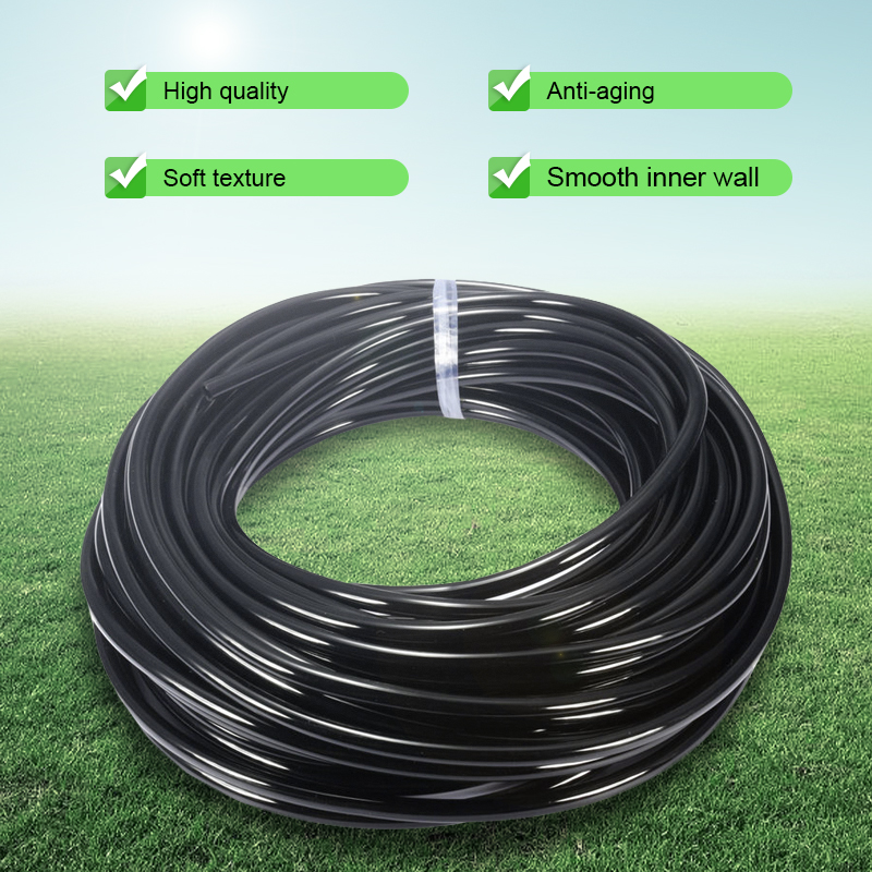10 50m New material 4 7 mm Drip irrigation hose Garden Micro spray 1 4 quot PE pipe Greenhouse agriculture Plants Watering System in Garden Hoses amp Reels from Home amp Garden