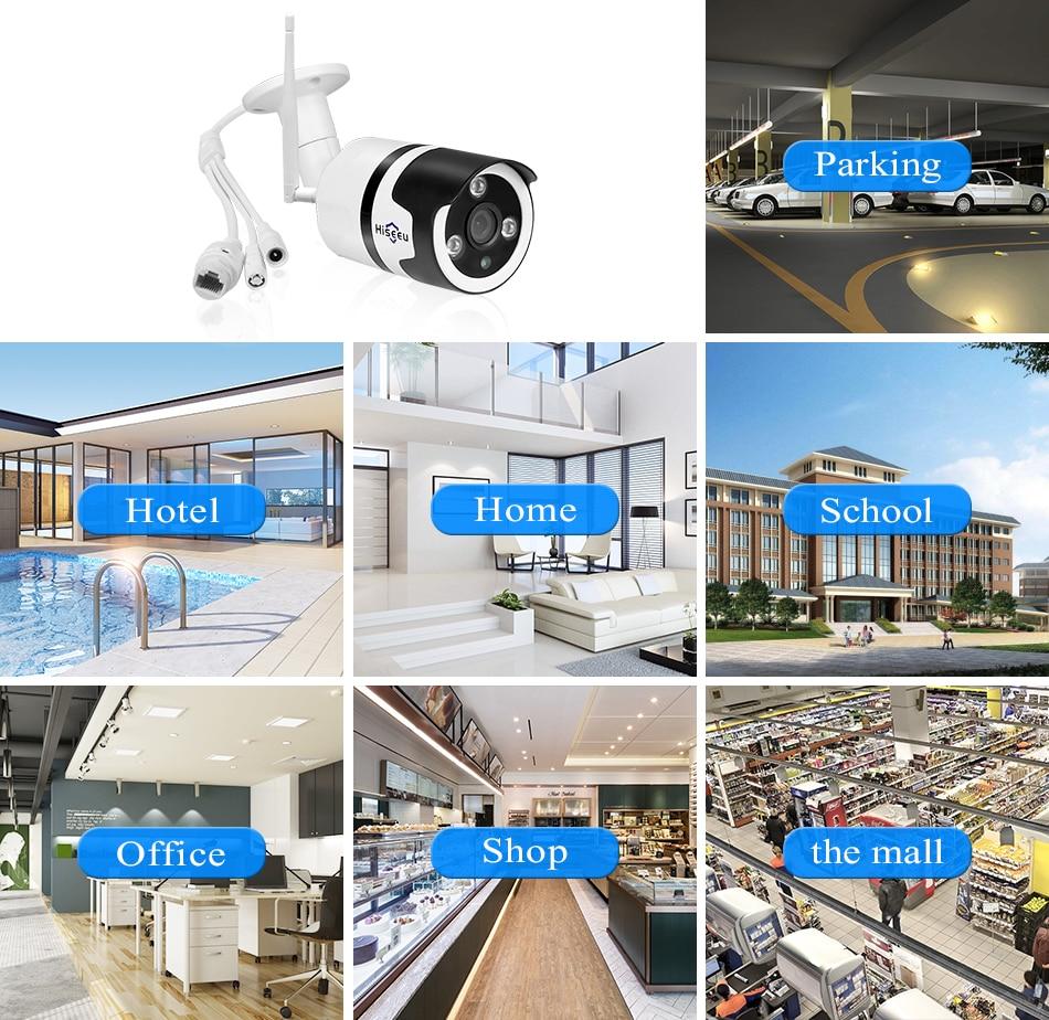 Hiseeu 2MP Wifi Waterproof Outdoor IP Security Camera 15