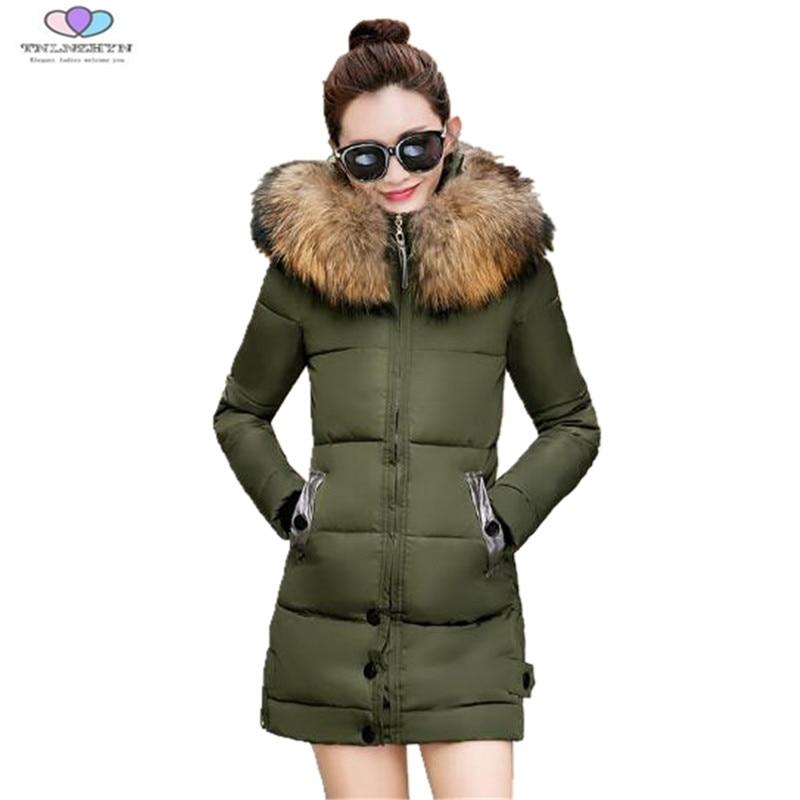 Female Warm Winter Jacket 2017 New Women Hooded Fur Collar Thick Down Cotton Jacket Coat Female Slim Coat Parka TNLNZHYN E135 rajveer kaur amarjit singh gill and paramjit kaur khinda diagnostic biomarkers in periodontics