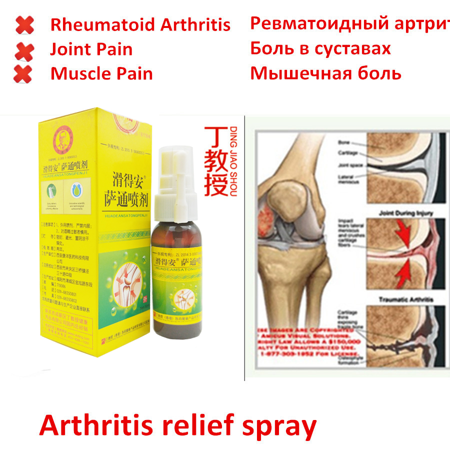 Chinese Herbs Medicine Pain Relief Spray Rapid Relief From Rheumatic, Rheumatoid Arthritis, Joint Pain, Muscle Pain, Bruises Ect
