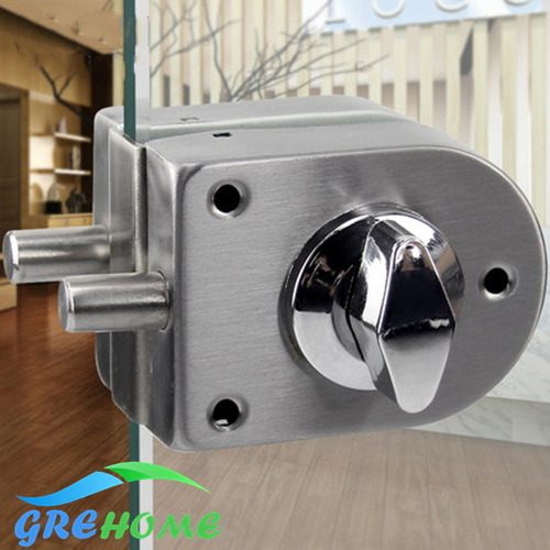 Stainless Steel Security Glass Door Lock Safe Lock European Style