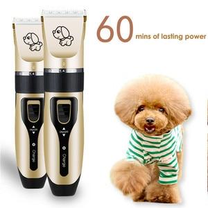 Image 5 - Recarregável de baixo nível de ruído pet hair clipper removedor cortador de grooming gato cão aparador de pêlos elétrico animais de estimação máquina de corte de cabelo carga usb