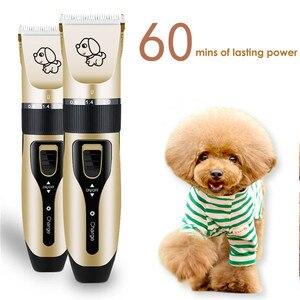 Image 5 - נטענת נמוך רעש חיות מחמד שיער קליפר Remover קאטר טיפוח חתול כלב שיער גוזם חשמלי חיות מחמד שיער לחתוך מכונה USB תשלום
