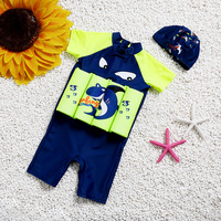 2018 Children Boy One Piece Buoyancy Swimsuit Swim Vest Detachable Float Baby Girl Swimwear Protect for kids Swimming Buoyant