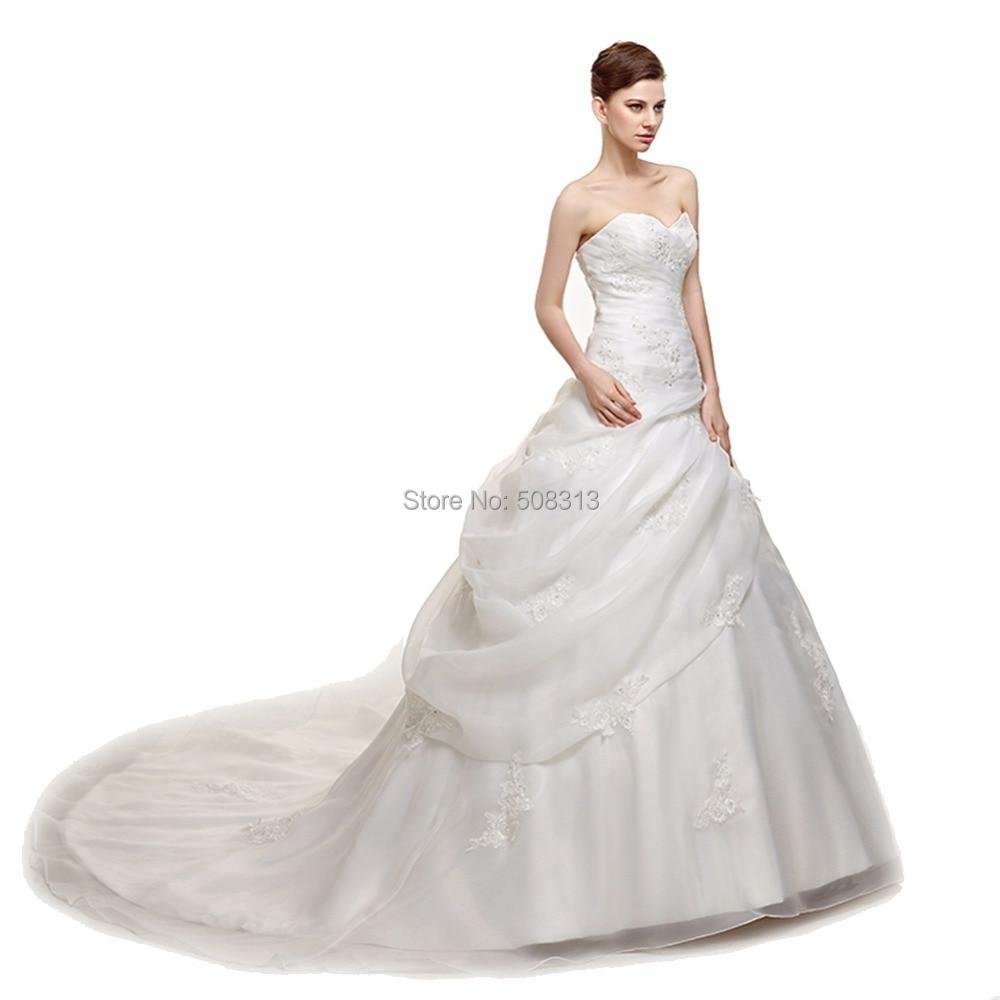 2015 Spring Latest Design Wedding Dresses Lustrous Satin