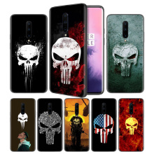 Marvel The Punisher Soft Black Silicone Case Cover for OnePlus 6 6T 7 Pro 5G Ultra-thin TPU Phone Back Protective