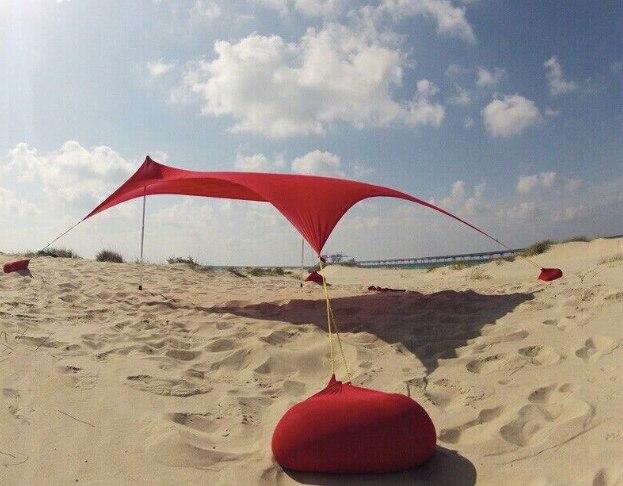 Shiping libre Offre Spéciale Lycra tissu pare-soleil abri tente stretch tente plage tente