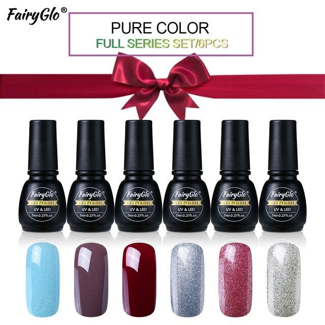 FairyGlo Nail Polish Box Set 7ML UV Gel Nail Polish Black Bottle ...