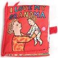 Я люблю бабушка высокая Quailty младенческой раннего образования ткань книга звук бумаги книги детские игрушки