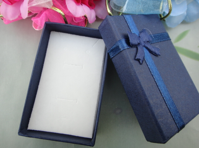 Wholesale 48pcs/Lot Dark blue,Paper Jewelry Box Necklace/Earrings/Ring Box Gift Box Free Shipping