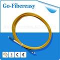 10pcs/lot 100% New optical fiber LC to SC Singlemode Fiber Optic Patch Cable (Simplex) Yellow single-mode