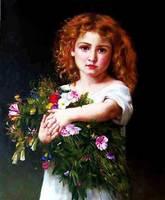 Gobelinos envío libre Clásico Retrato de la Muchacha alta tecnología de decoración de tela foto, arte del tapiz de Imágenes