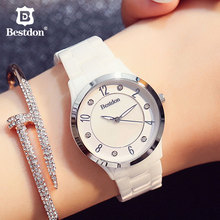Bestdon Ceramic Women's Watches Sapphire Cycstal Fashion Qua