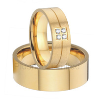 anel feminino ouro exclusive collection men and women titanium wedding rings gold color jewelry