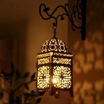 Candelero hueco metálico artesanía vela luz té decoración del hogar candelero marroquí candelero decoración de boda