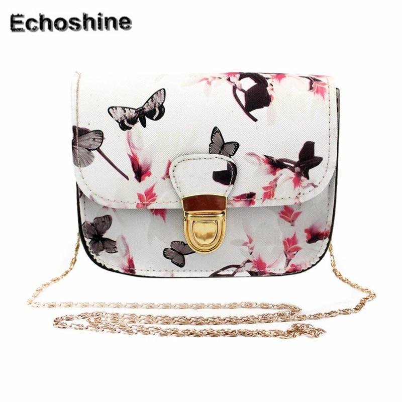 2016 Лидер продаж леди сладкий Для женщин бабочка цветок печати сумки сумка  подарок оптовая продажа A3000 7f5a402c854