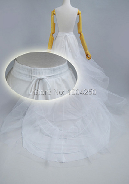 High quality petticoat 60% OFF! Three Tiers Taffeta Wedding Dress Petticoat Crinoline for Cathedral/Royal Train Chapel Train