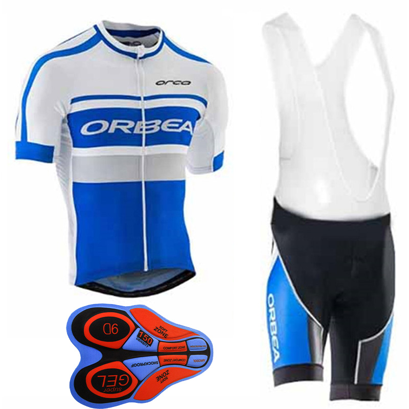 2017 Summer Short Sleeve Orbea Cycling Set Ropa Ciclismo Mountain Bike Clothing Breathable Men's Blue Bicycle Jersey Sportswear laura scott womens blue check pajamas lightweight short sleeve pajama set