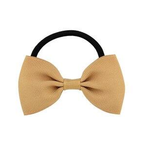 متعدد الألوان bowknot hairband مرونة المطاط حبل المرأة الصلبة اليدوية الشريط القوس التعادل العصابات الشعر للبنات اكسسوارات للشعر