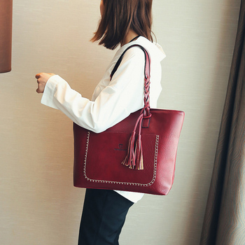 Large Capacity Women Shoulder Bag Faux Leather tote High Quality Handbag Daily Shopping bag handbag