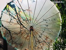 Chuangge Olied Paper Umbrella Rain Women Small Handmade Long handle Windproof Bamboo 24 Ribs Chinese Umbrella Japanese(China)