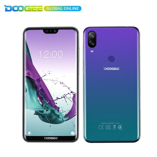 Новый Авроры DOOGEE N10 мобильный телефон, 3 Гб оперативной памяти, 32 Гб встроенной памяти, размер экрана 5,84 дюймов FHD + 19:9 дисплей 16.0MP камера 3360 мА/ч, 4glte смартфон