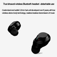 X6 TWS headset wireless headset Bluetooth headset ear in ear mini 4.2 stereo touch waterproof call function, support music bilat