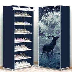 Ocho capas moderno minimalista grueso no tejido zapato almacenamiento gabinete creativo DIY montaje a prueba de polvo organizador de zapatos estante