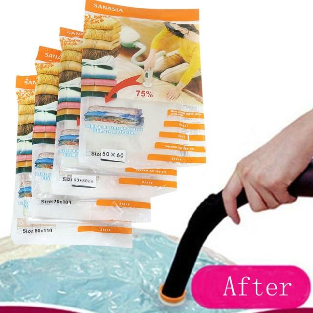 Hot Vacuum Seal Storage Bag New E Saver Saving Clothes Pillows Bags