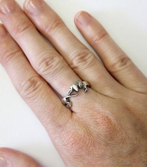 Funny Adjustable Dog Shaped Ring