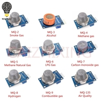 9 PCS/1 Lot Gas Erkennung Sensor Modul MQ-2 MQ-3 MQ-4 MQ-5 MQ-6 MQ-7 MQ-8 MQ-9 MQ-135 Sensor Modul gas Sensor Starter Kit
