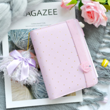 2019 Dokibook Mint A6 Pouch Series Spiral Time Planner Pencil Case Zipper PU leather Notebook Diary Agenda With Randomly Gifts