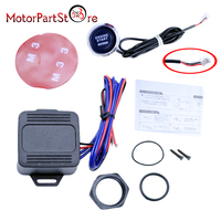 12V Car Engine Start Push Button Switch Ignition Starter Kit Red LED Universal