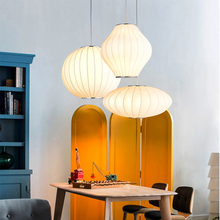 Chinese Silk Pendant Lights Compound Dining Staircase Living Room Bar Restaurant Pendente Lamp Light Fixtures Luminaire