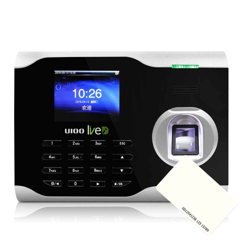 Zkteco U100 IC Card And Fingerprint Time Attendance Fingerprint Time Clock With 13.56Mhz IC Card Attendance System