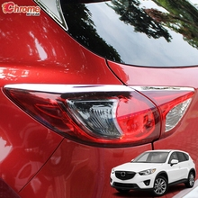 For Mazda CX-5 CX5 KE 2012 2013 2014 2015 2016 Chrome Rear Tail Light Taillight Cover Trim Eyelid Eyebrow Decoration Car Styling