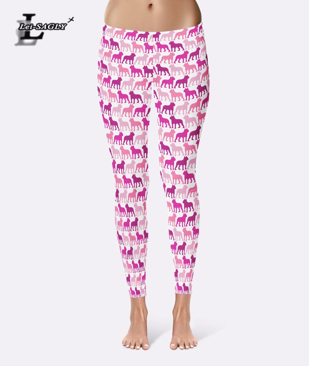 43d031709c05f7 Lei-SAGLY Women Casual Pants 3D Digital Print Cartoon Dogs Pattern Women  Leggings Fitness Clothing