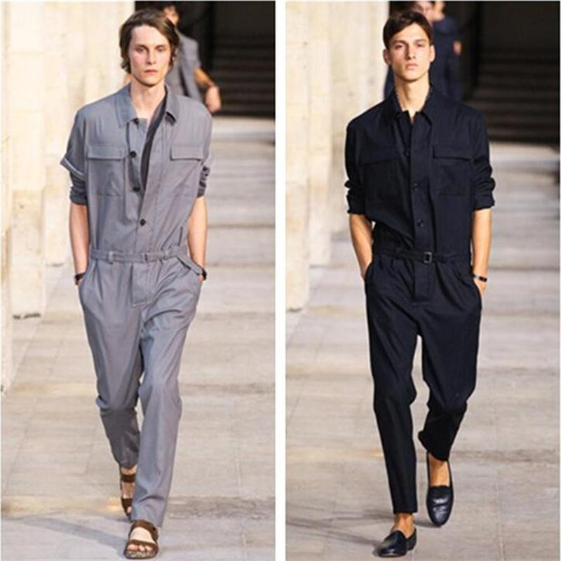 2020 Men New Spring Plus Size Jumpsuit Overalls Runway Fashion Slim Jumpsuits Siamese Custom Stage Singer Costumes S-6XL
