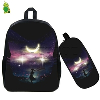 Anime Sailor Moon Crystal Outline Backpack 2 Pcs/set School Bags for Teenagers Girls Book Bag Cute Sailor Moon Travel Backpacks