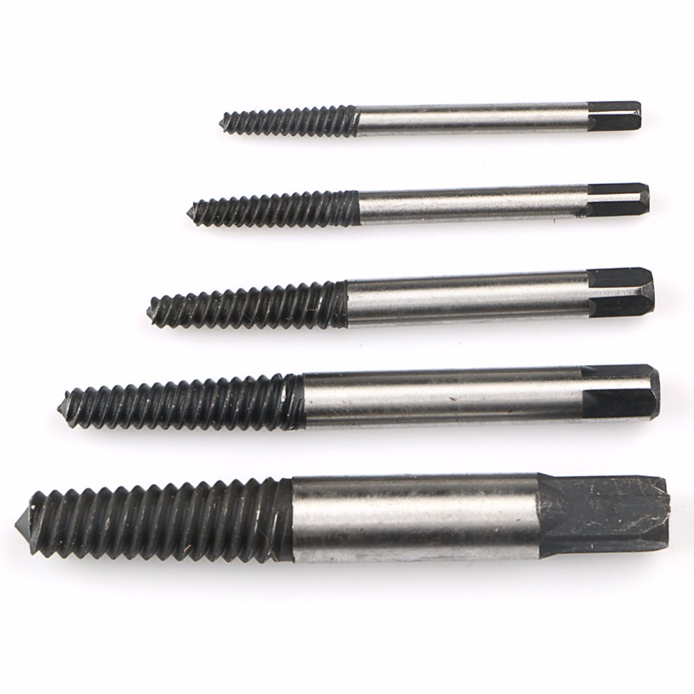 5pcs Easy Out Broken Damaged Tap Screw Extractor Drill Bit Set Broken Bolt Remover Power Tool 1# 2# 3# 4# 5# screw extractor 6pcs screw easy speed out broken screw stud extractor remover drill tool set
