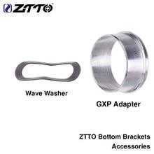 ZTTO нижние кронштейны аксессуары адаптер GXP волновая шайба 0,5 мм для дорожного горного велосипеда BB GXP 24 22 мм chainset