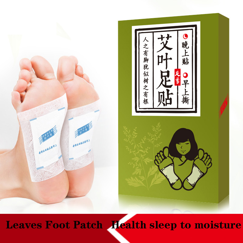 to the soles of the feet with wormwood health sleep to damp the bamboo vinegar paste paste 10 per box of nursing the health gap