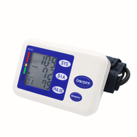 Health Care Digital Automatic Upper Arm Blood Pressure Equipped With Adaptor Monitor Blood Pressure Gauge Blue Blood Pressure