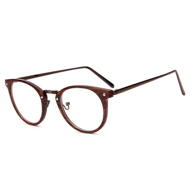 195c58901fb5c Marca dell annata Rotondo di Metallo Occhiali Uomini Telaio Dell ottica  Occhiali Computer Chiaro