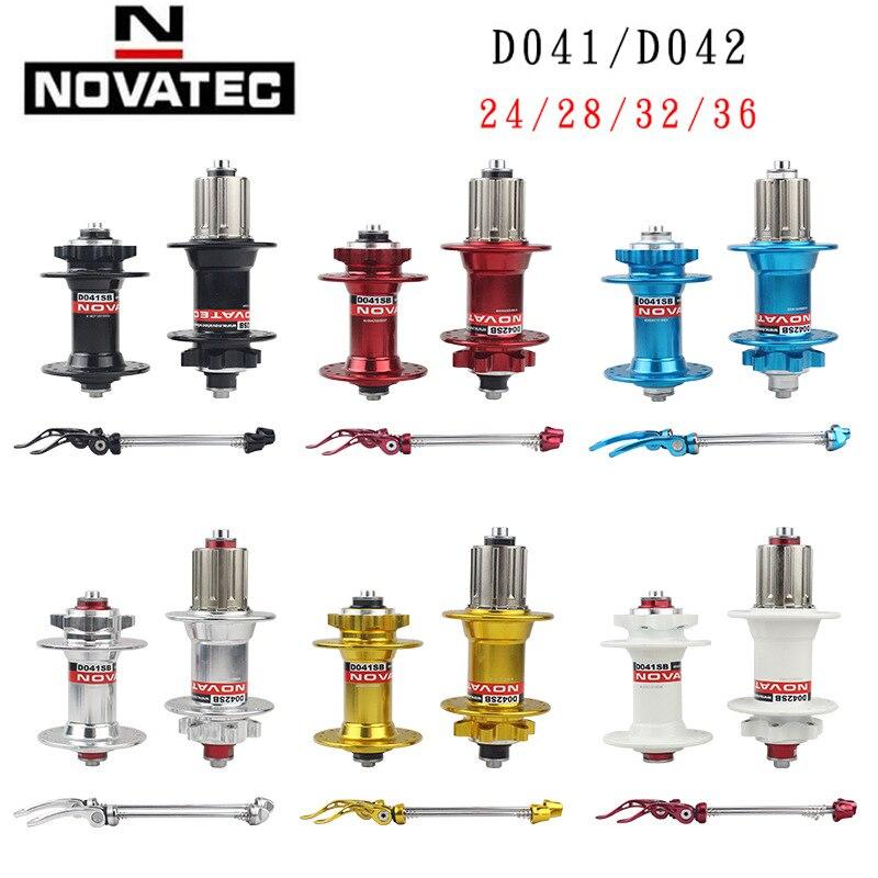 NOVATEC D041SB//D042SB Hubs Set Front Rear 24//28//32//36 Holes With Skewers