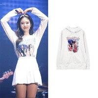 Blackpink Jennie Hoodie Black Pink Sweatshirt Long Sleeve Ulzzang Harajuku Kpop Clothes Hip Hop Korean Autumn Winter Hooded