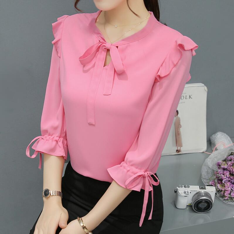 Women Ladies Clothing Tops Half Sleeve Solid Fashion Shirt Casual Blouse Tops Loose Clothes Women