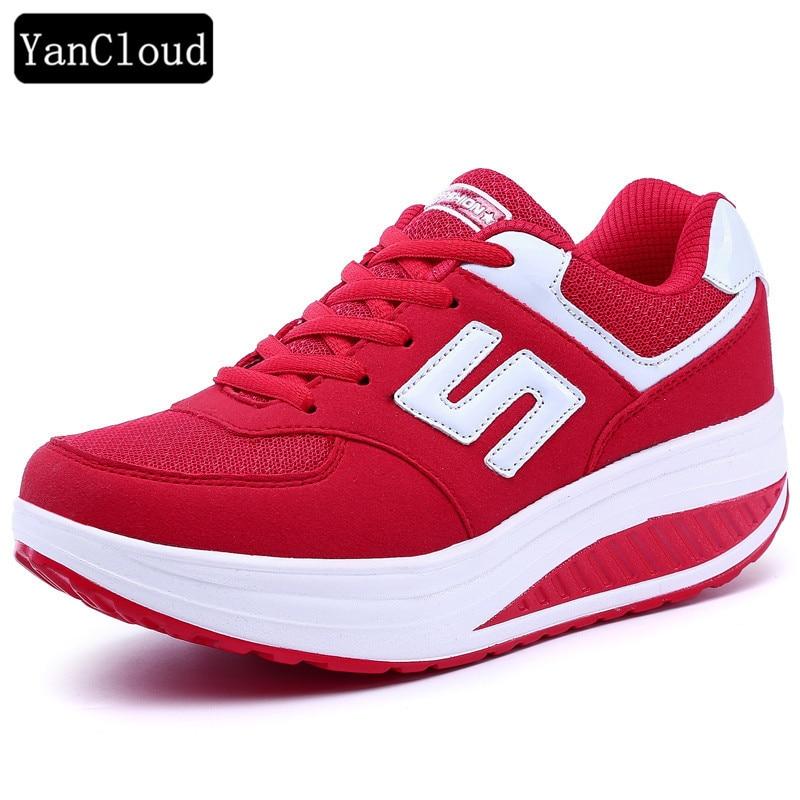 Red Black Pink Platform Shoes Women Sneakers 2018 Autumn ...